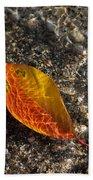 Autumn Colors And Playful Sunlight Patterns - Cherry Leaf Bath Towel