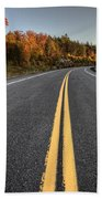 Autumn Colors And Road  Bath Towel