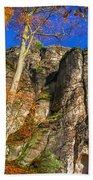 Autumn Colors In The Saxon Switzerland Bath Towel