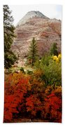 Autumn Colors In Zion's Highlands-ut Bath Towel