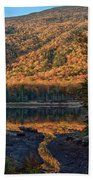 Autumn Colors Reflected In Stream Bath Towel