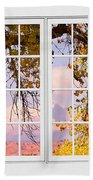 Autumn Cottonwood Tree Longs Peak White Window View Bath Towel