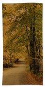 Autumn Country Road Bath Towel