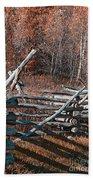 Autumn Fence Bath Towel