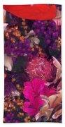 Autumn Flower Bouquet Bath Towel