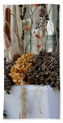 Autumn Flower Box Bath Towel