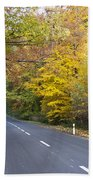 Autumn Forest Road Bath Towel