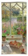 Autumn Fruit And Flowers Bath Towel
