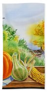 Autumn Harvest Fall Delight Hand Towel