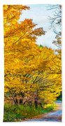 Autumn Hike - Paint Bath Towel