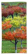 Autumn Hillside Orchard Bath Towel