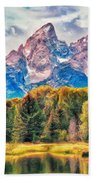 Autumn In The Tetons Bath Towel