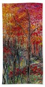 Autumn In The Woods Bath Towel