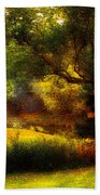 Autumn - Landscape - Past And Present Bath Towel