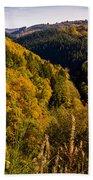 Autumn Landscape Bath Towel