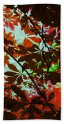 Autumn Leaf Abstract Bath Towel