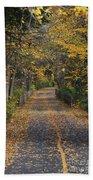 Autumn On Bike Trail  Bath Towel
