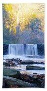 Autumn On The Wissahickon Waterfall Bath Towel