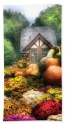 Autumn - Pumpkin - This Years Harvest Was Awesome  Bath Towel