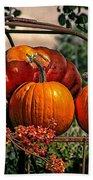 Autumn Pumpkins Bath Towel
