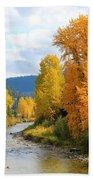 Autumn River In Montana Bath Towel