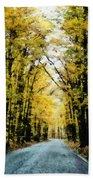 Autumn Road Bath Towel