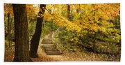 Autumn Stairs Bath Towel