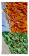 Autumn Tree Bath Sheet by Melissa Dawn