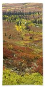 Autumn Tundra With Boreal Forest Bath Towel