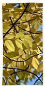 Autumn Yellow Bath Towel