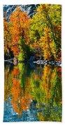 Autumn's Beauty Reflected Bath Towel