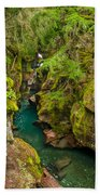 Avalanche Gorge In September Bath Towel