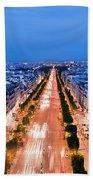 Avenue Des Champs Elysees In Paris Bath Towel