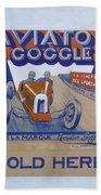Aviator Goggle Sold Here Poster Bath Towel