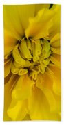 Ayz - A Yellow Zinnia Bath Towel
