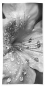 Azalea Flower With Raindrops Monochrome Bath Towel