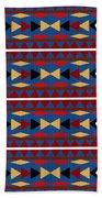 Aztec Blue Pattern Bath Towel