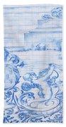 Azulejos Traditional Tiles In Porto Portugal Bath Towel