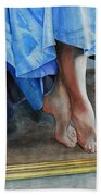 Through The Looking Glass- A Vision In Azure, Prelude To A Dance Bath Towel