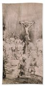 The Three Crosses, Circa 1660 Bath Towel
