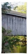 Babbs Covered Bridge In Maine Bath Towel