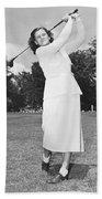 Babe Didrikson Golfing Bath Towel