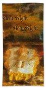Baby Jesus Silent Night Photo Art Bath Towel