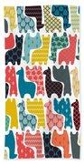 Baby Llamas Bath Towel by MGL Meiklejohn Graphics Licensing