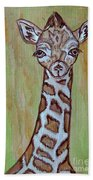 Baby Longneck Giraffe Bath Towel