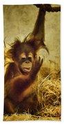Baby Orangutan At The Denver Zoo Bath Towel