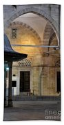 Back Lit Interior Of Mosque  Bath Towel