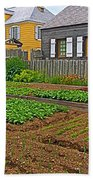 Backyard Garden In Louisbourg Living History Museum-1744-ns Bath Towel