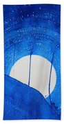 Bad Moon Rising Original Painting Bath Towel