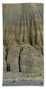 Badland Erosion Of Soft Conglomerate Sediment Bath Towel